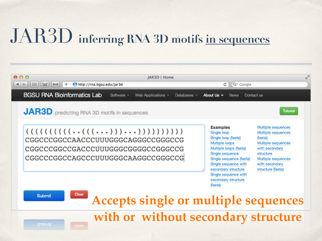 JAR3D inferring RNA 3D motifs in sequences Acce...