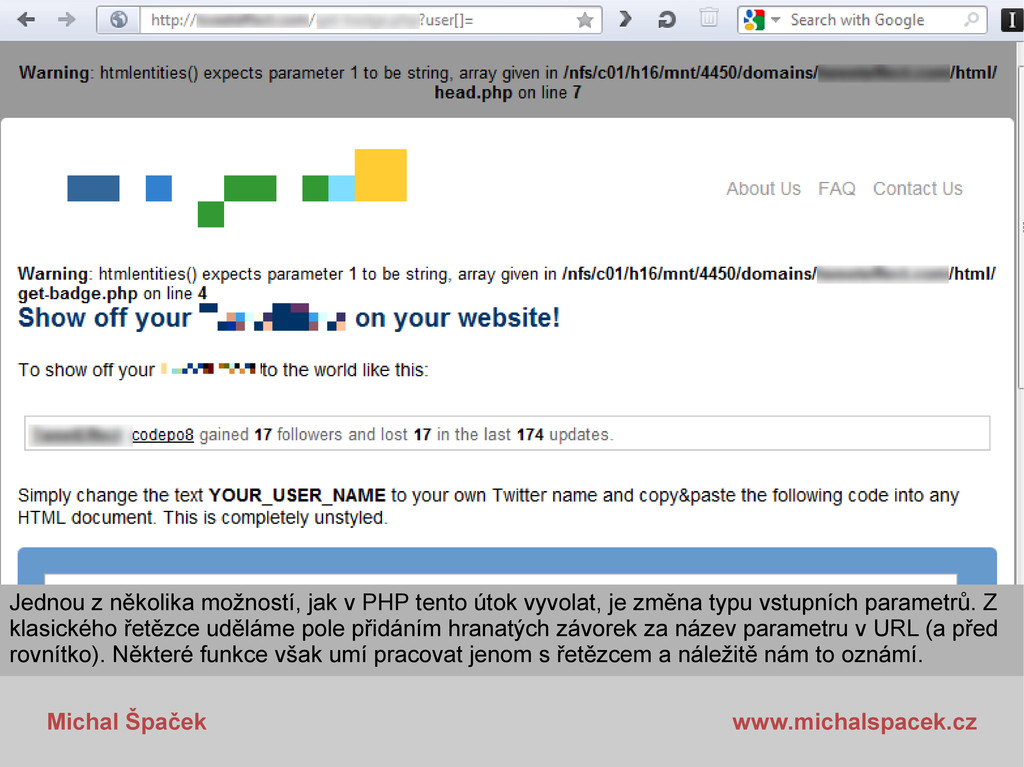 Michal Špaček www.michalspacek.cz Jednou z něko...