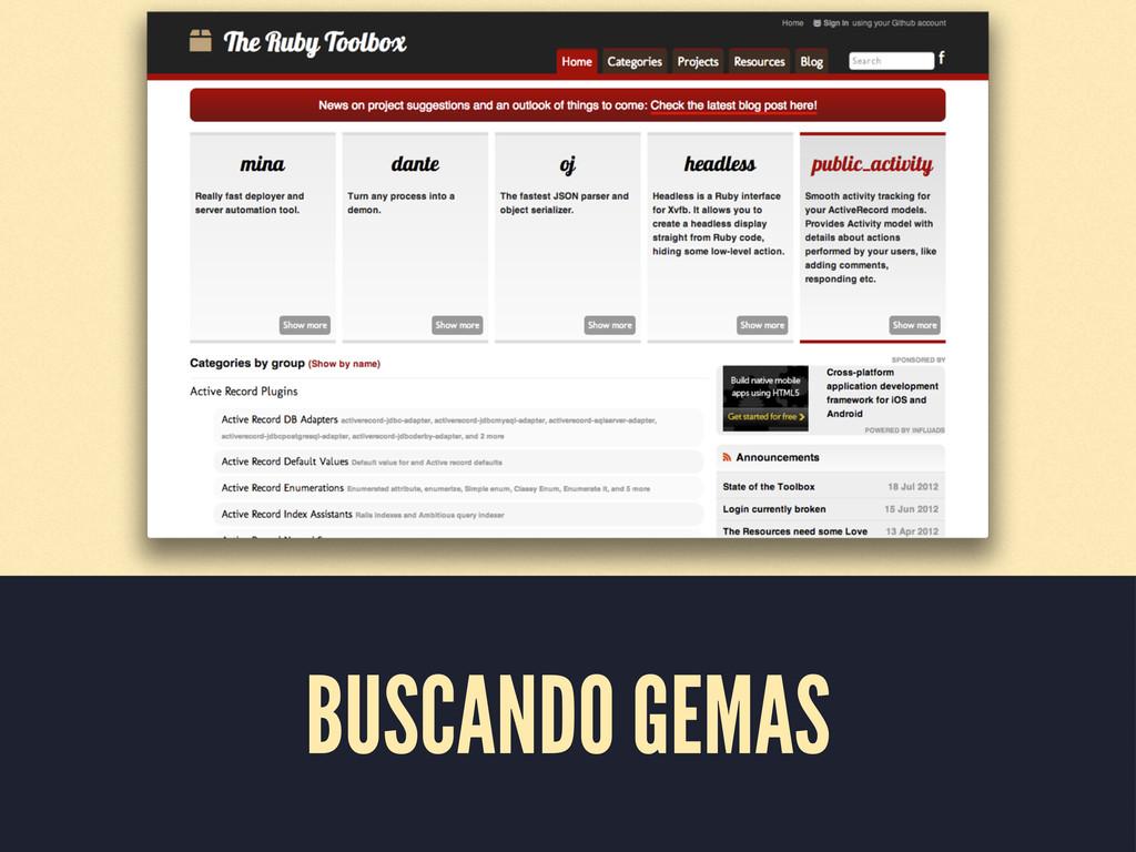 BUSCANDO GEMAS