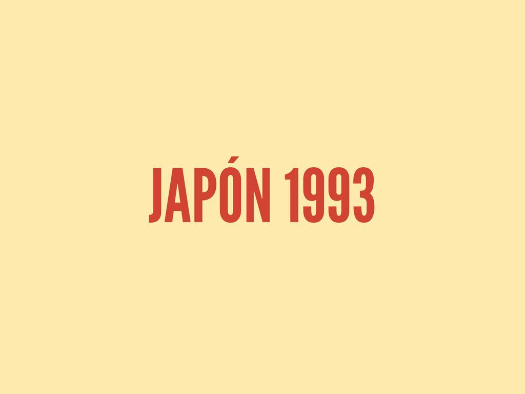 JAPÓN 1993