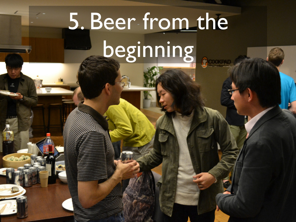 5. Beer from the beginning
