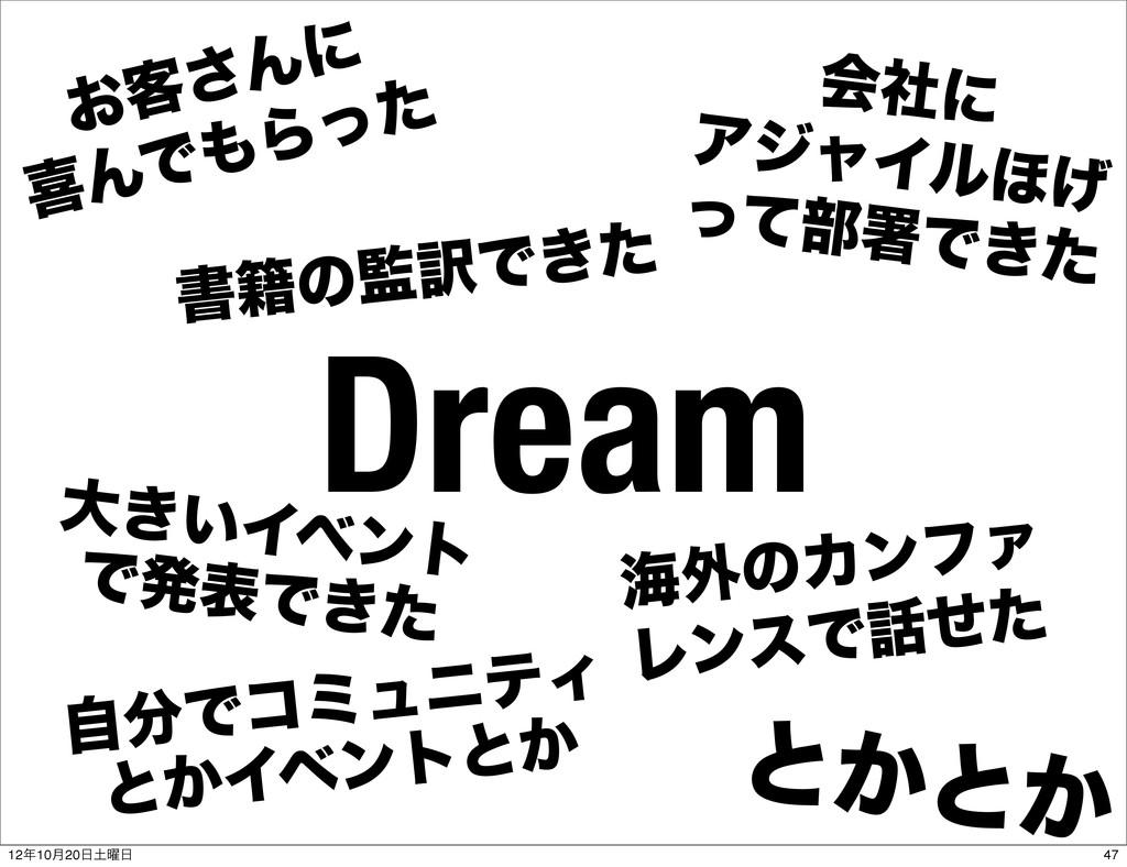 Dream ͓٬͞Μʹ تΜͰΒͬͨ ձࣾʹ ΞδϟΠϧ΄͛ ͬͯ෦ॺͰ͖ͨ େ͖͍Πϕϯτ...