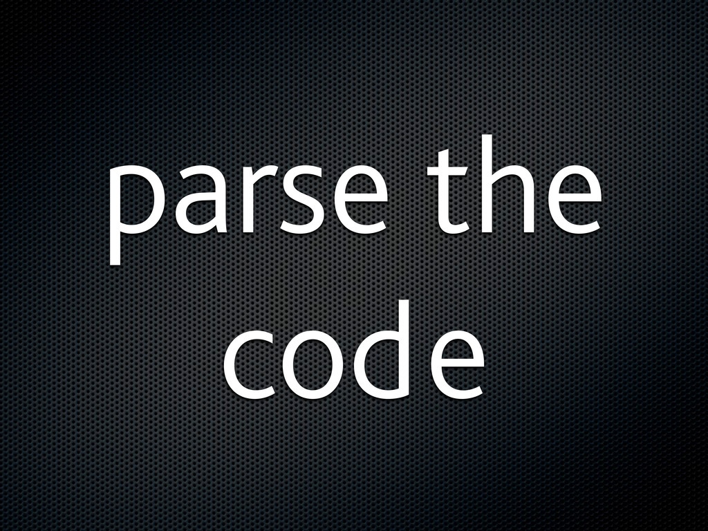 parse the code