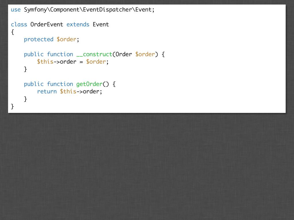use Symfony\Component\EventDispatcher\Event; cl...