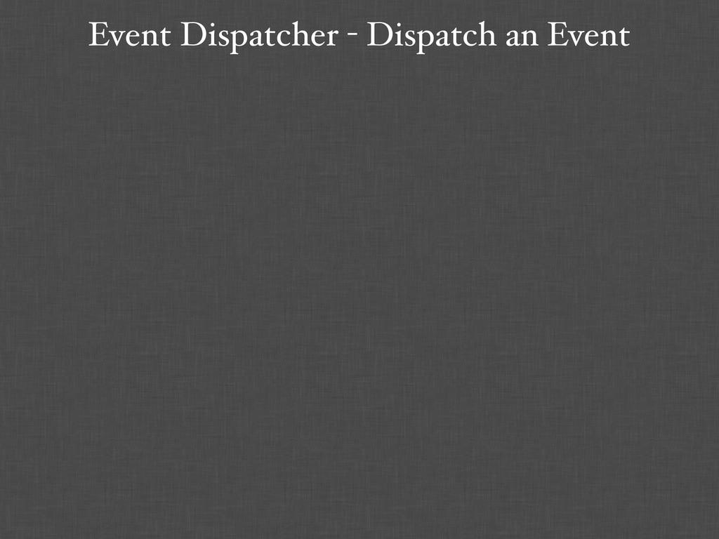 Event Dispatcher - Dispatch an Event