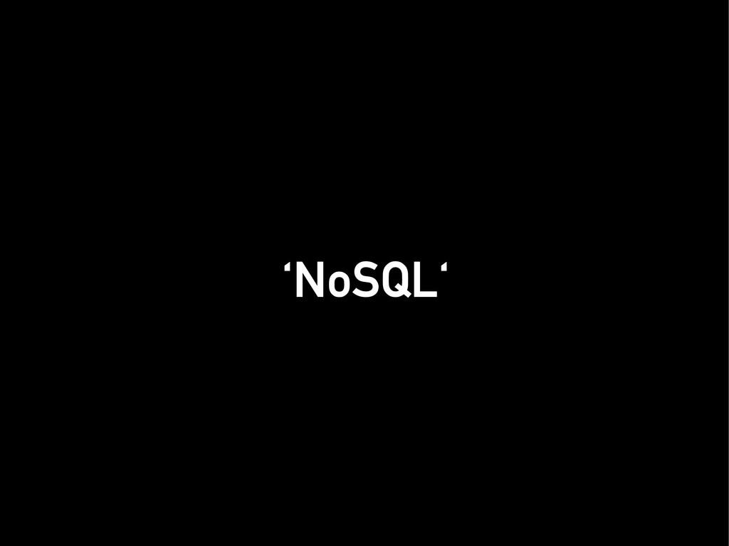 'NoSQL' 'NoSQL'