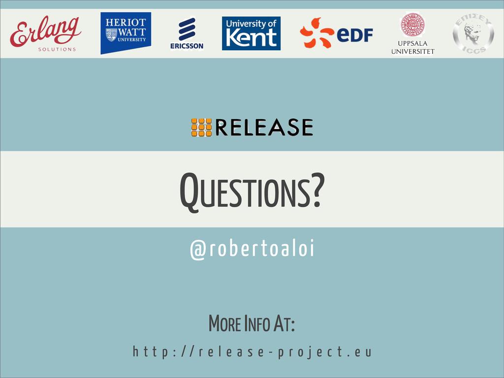QUESTIONS? MORE INFO AT: h t t p : / / r e l e ...