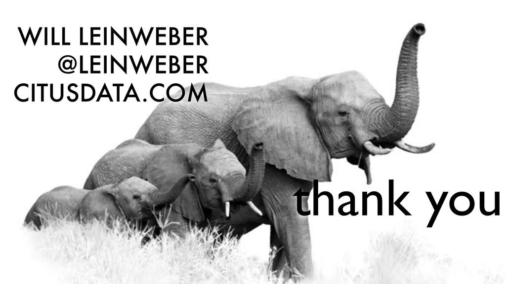 WILL LEINWEBER @LEINWEBER CITUSDATA.COM thank y...