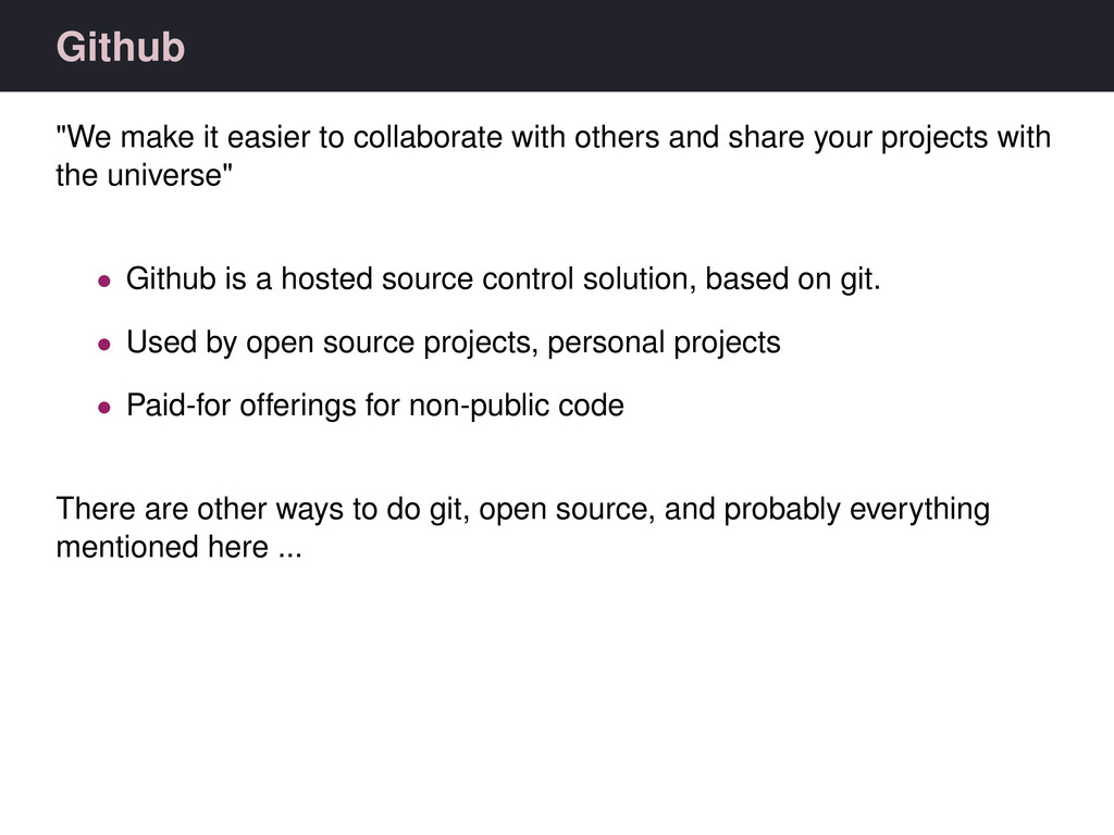 """Github """"We make it easier to collaborate with o..."""