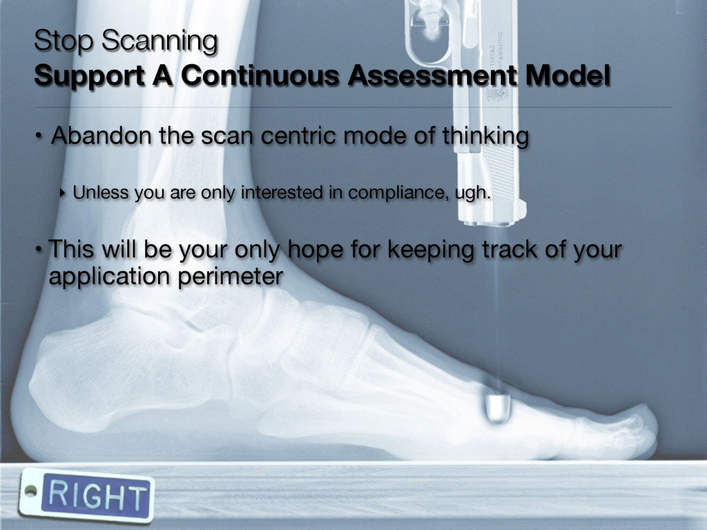 Stop Scanning Support A Continuous Assessment ...