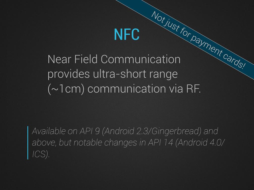 NFC Near Field Communication provides ultra-sho...