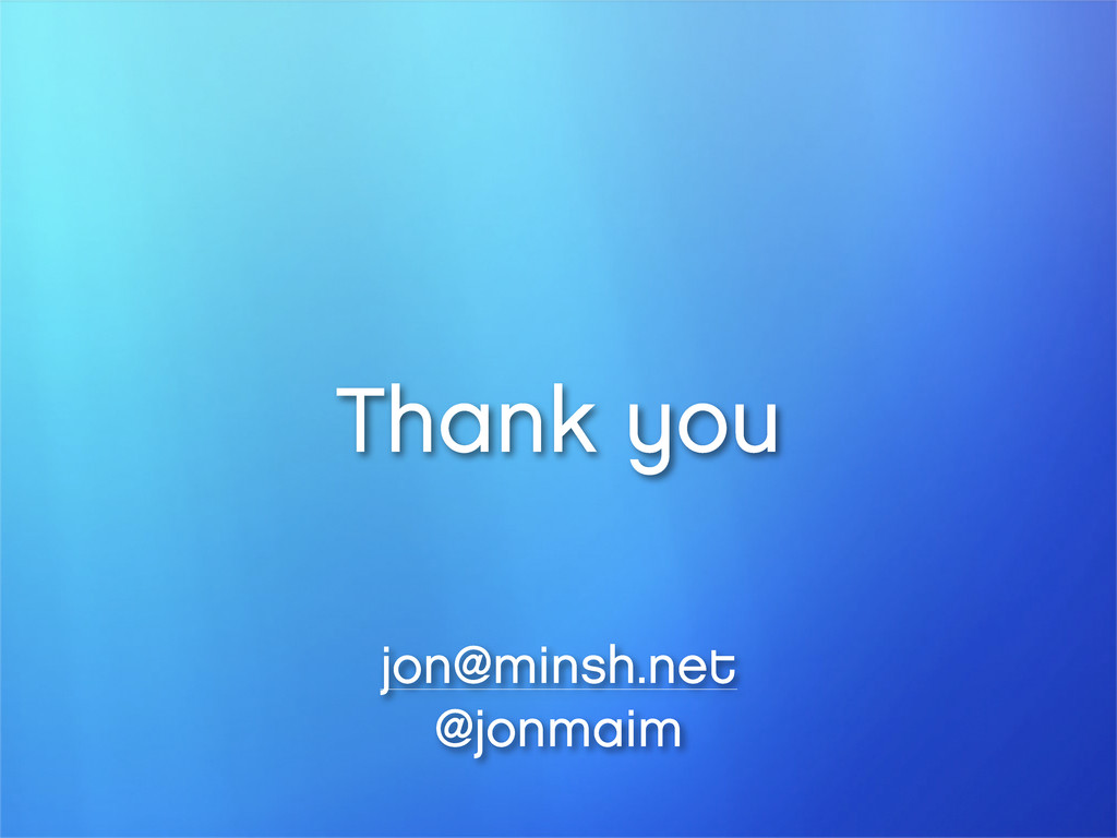 Thank you jon@minsh.net @jonmaim