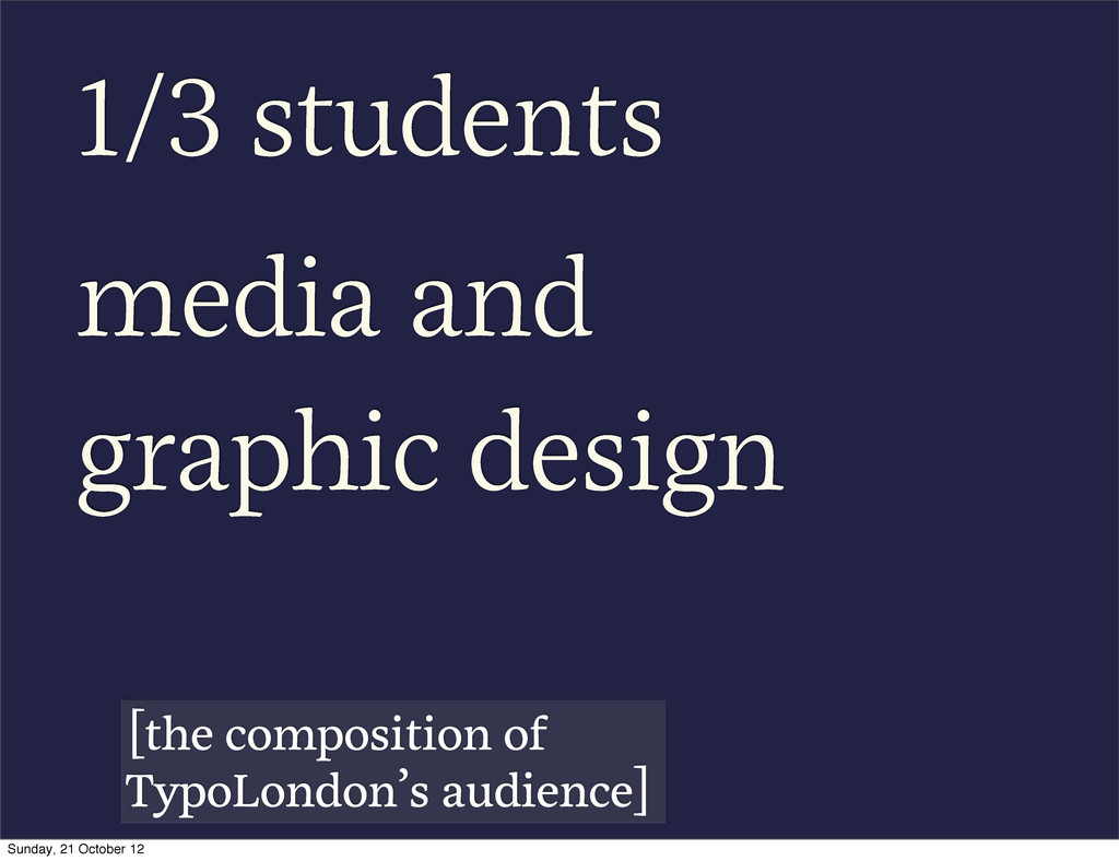 1/3 students media and graphic design [the comp...
