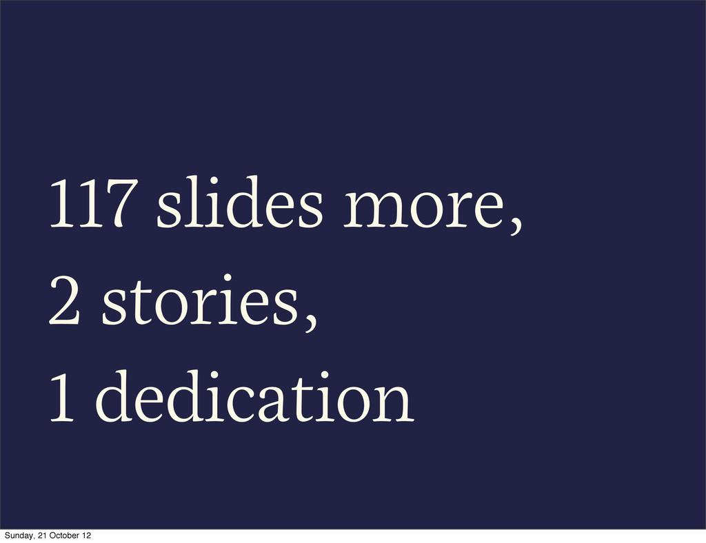 117 slides more, 2 stories, 1 dedication Sunday...