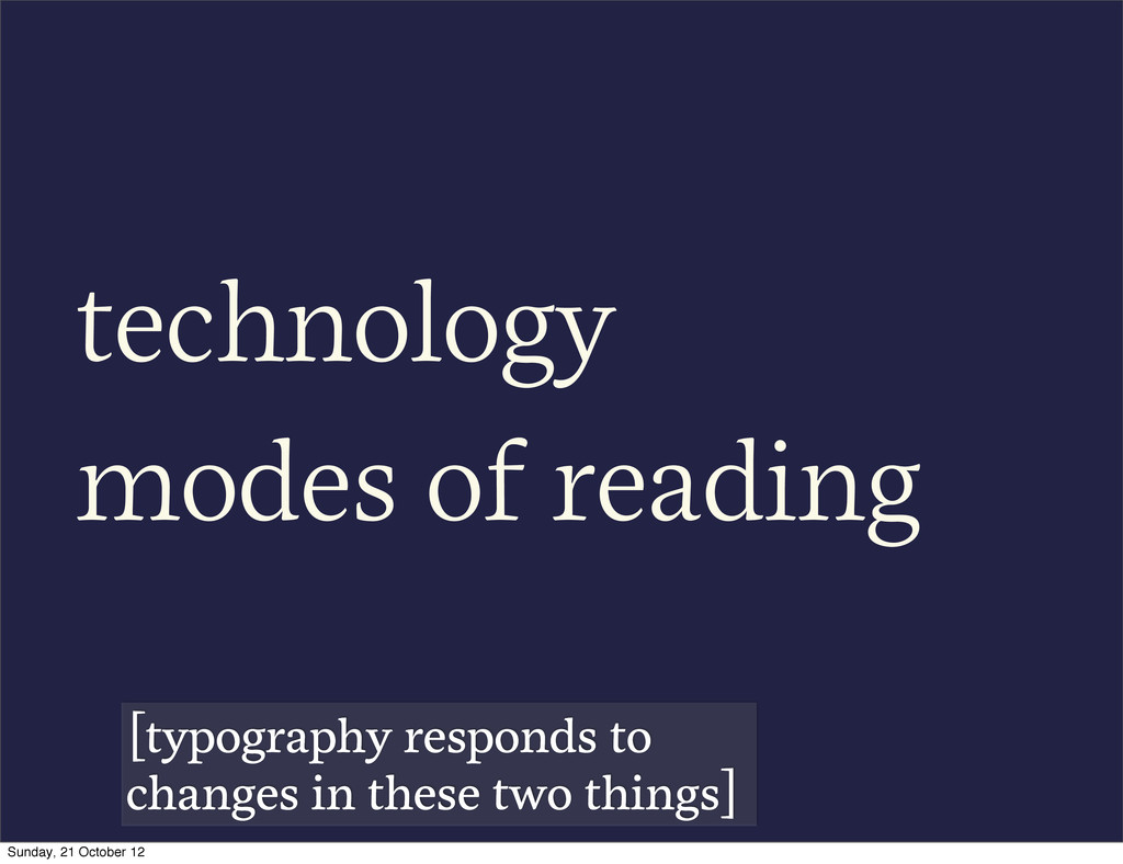 technology modes of reading [typography respond...