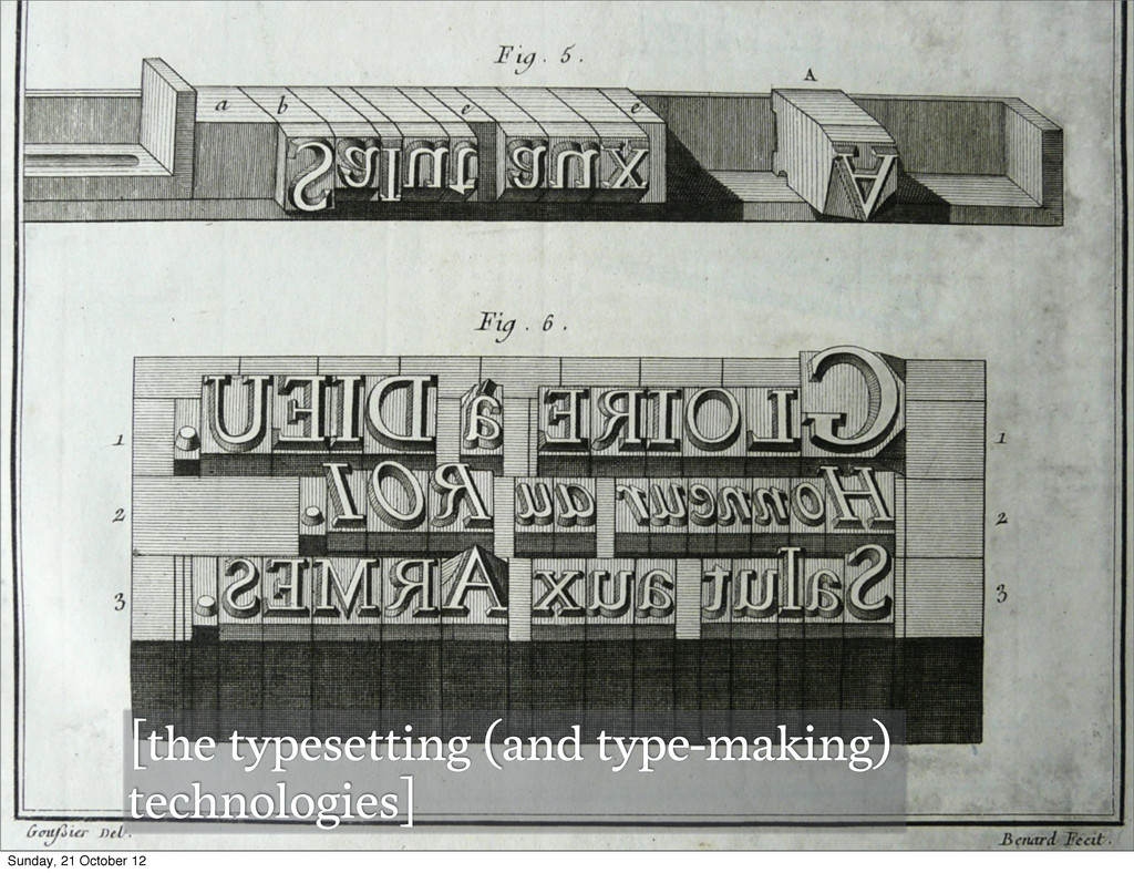 [the typesetting (and type-making) technologies...