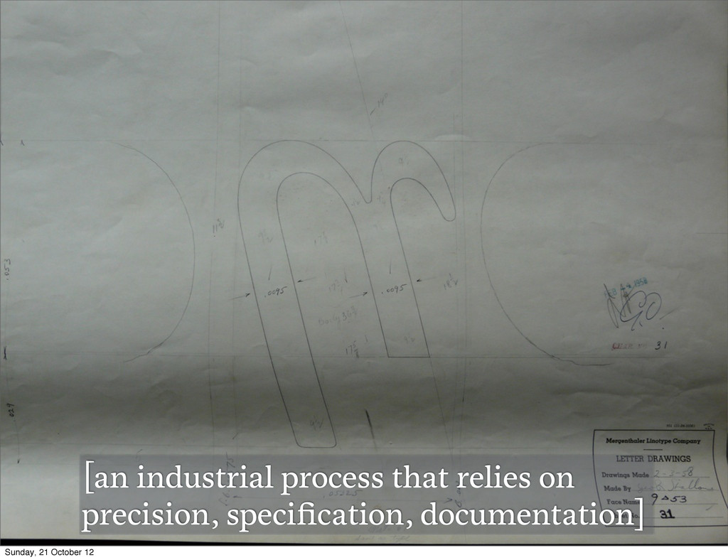 [an industrial process that relies on precision...