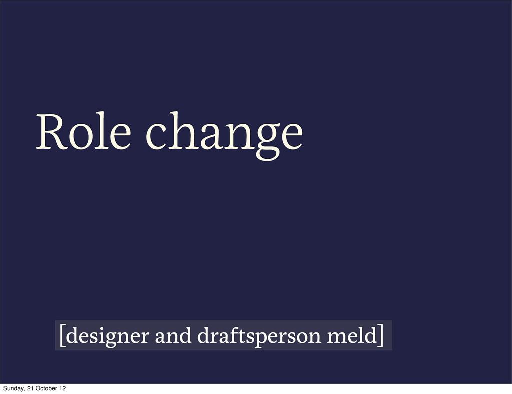 Role change [designer and draftsperson meld] Su...