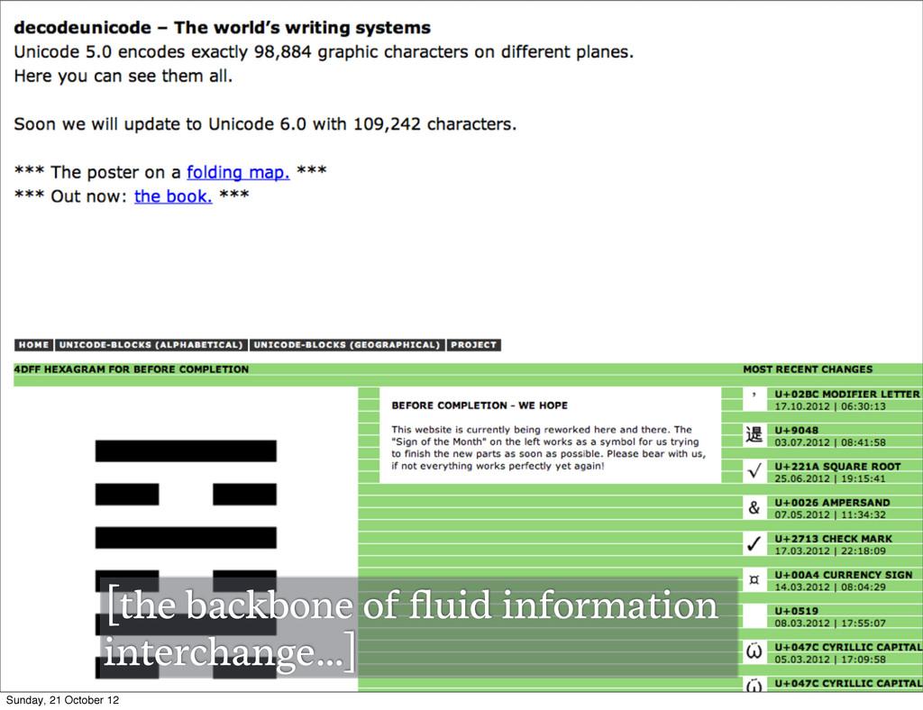 [the backbone of fluid information interchange…]...