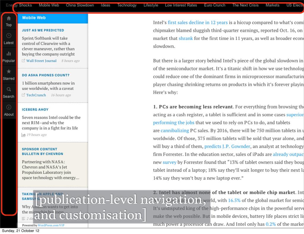 [publication-level navigation, and customisatio...