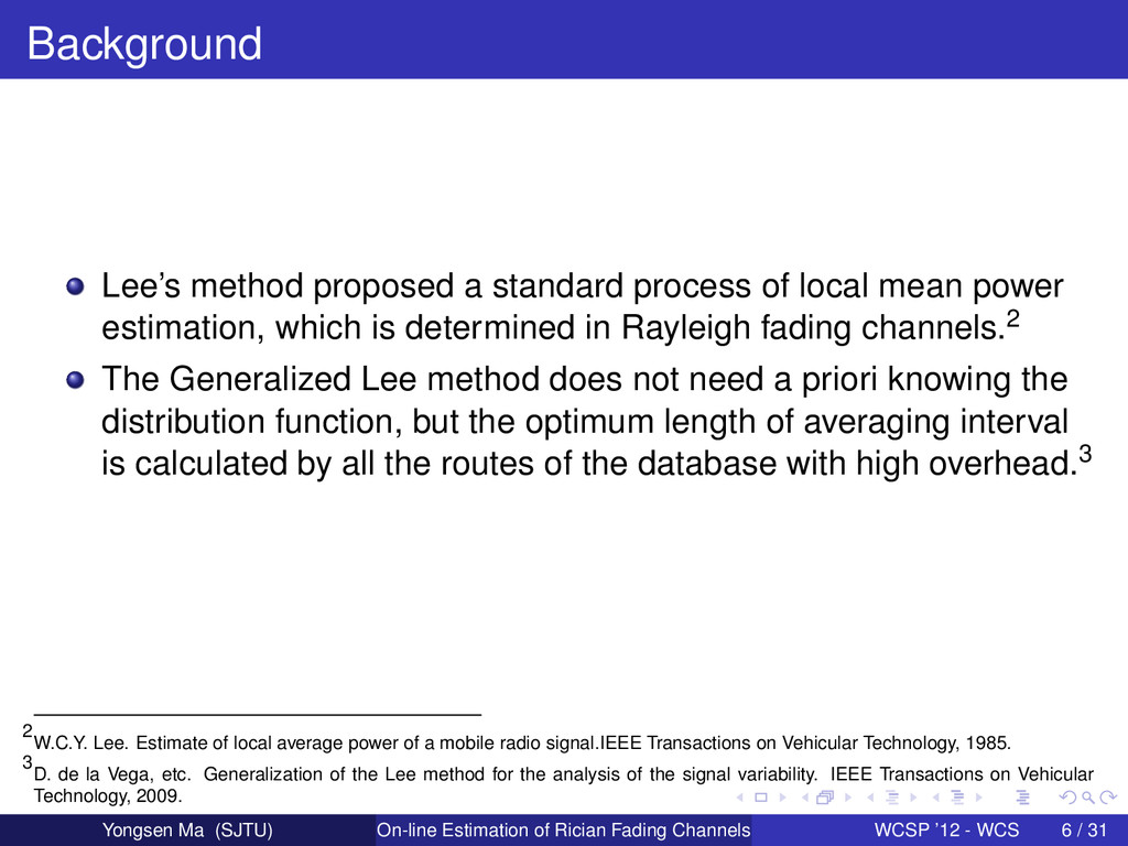 Background Lee's method proposed a standard pro...