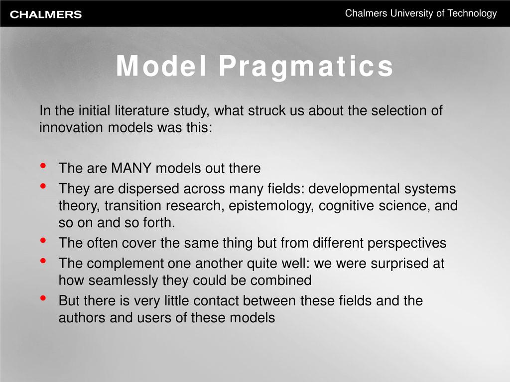 Chalmers University of Technology Model Pragmat...