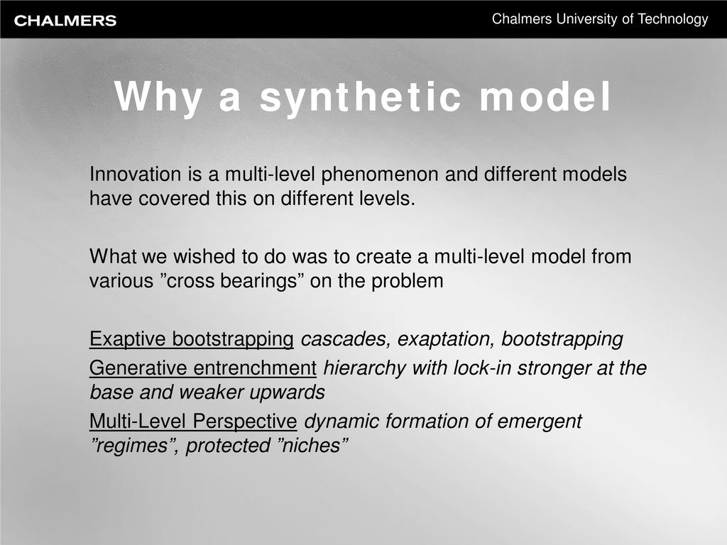 Chalmers University of Technology Innovation is...