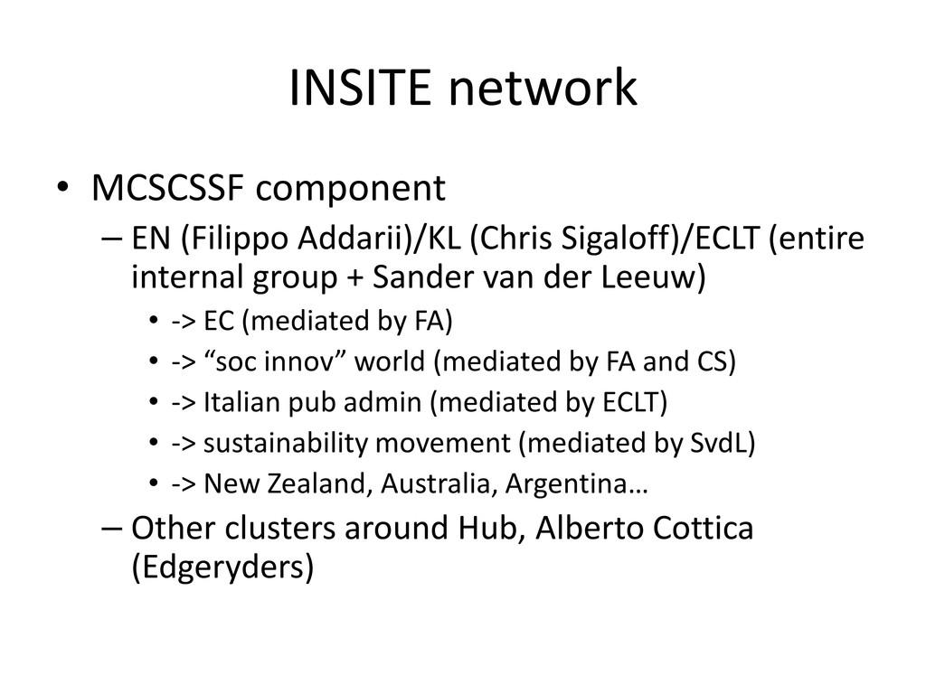 INSITE network • MCSCSSF component – EN (Filipp...