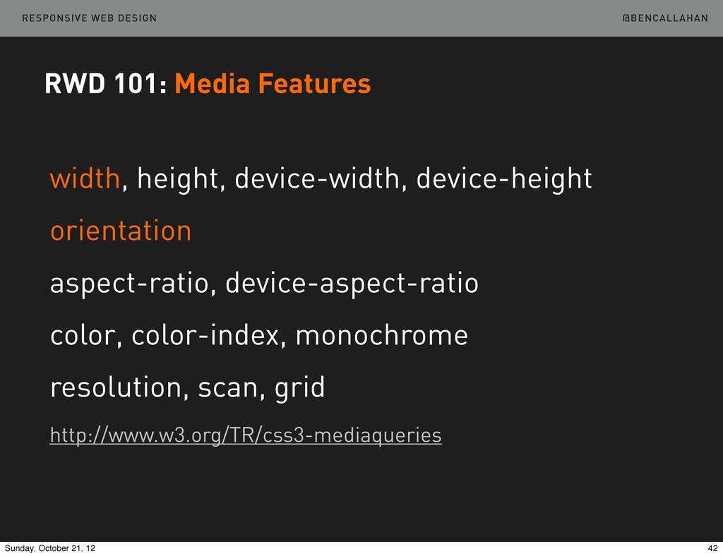 @BENCALLAHAN RESPONSIVE WEB DESIGN RWD 101: Med...
