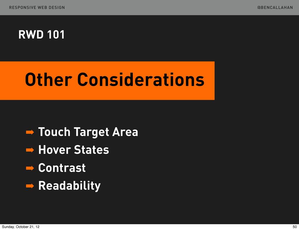 @BENCALLAHAN RESPONSIVE WEB DESIGN ➡ Touch Targ...
