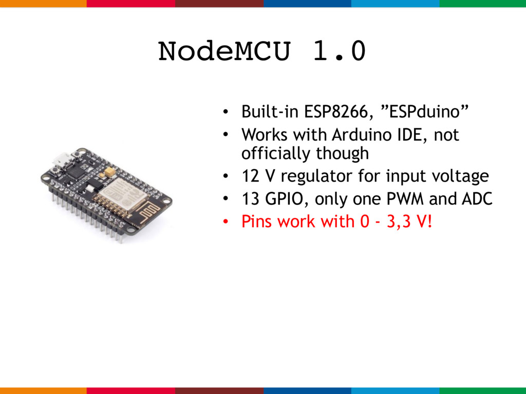 "• Built-in ESP8266, ""ESPduino"" • Works with Ard..."