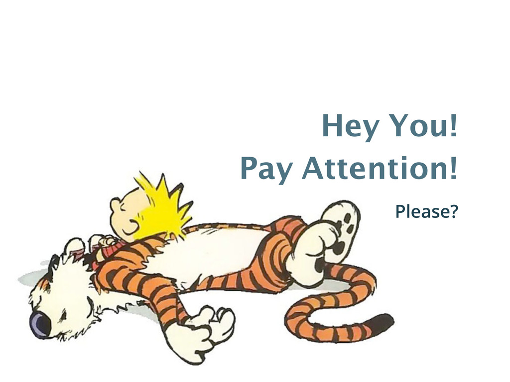 Hey You! Pay Attention! Please?