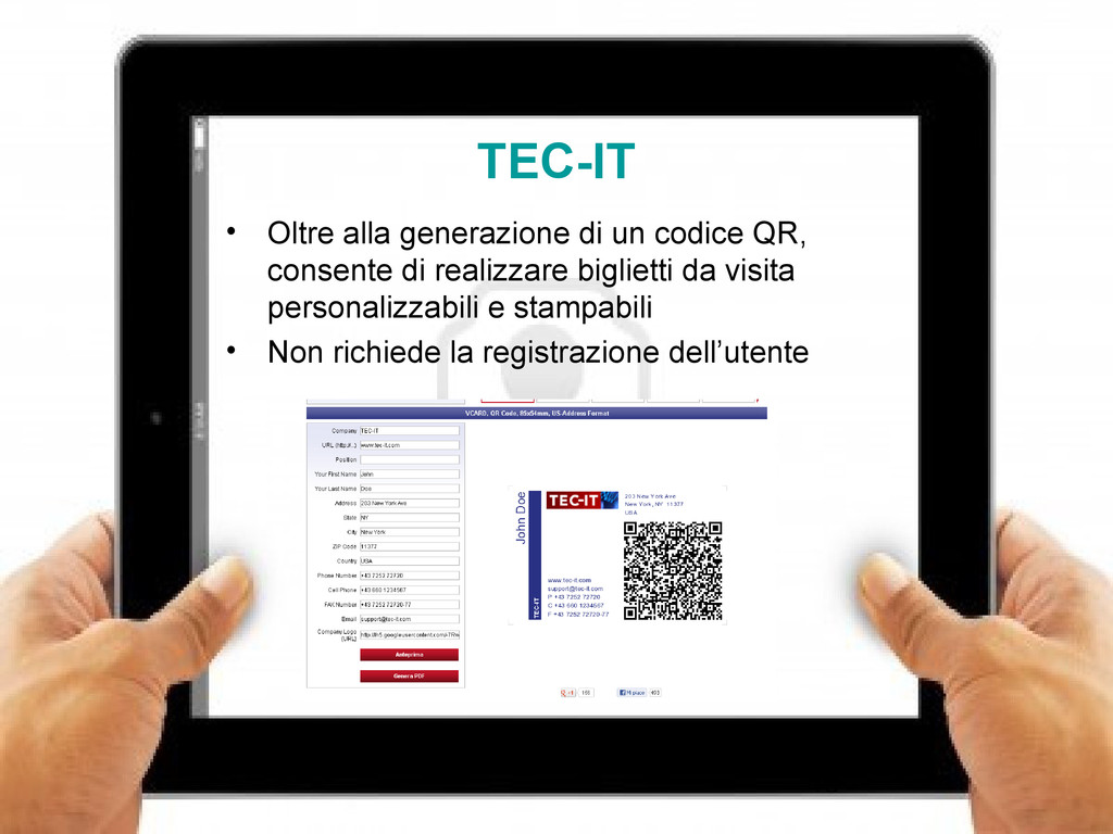 13 TEC-IT • Oltre alla generazione di un codice...