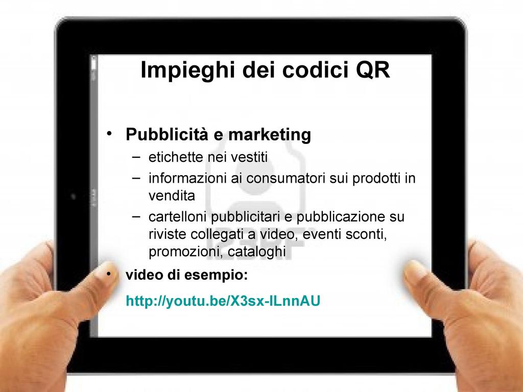 7 Impieghi dei codici QR • Pubblicità e marketi...