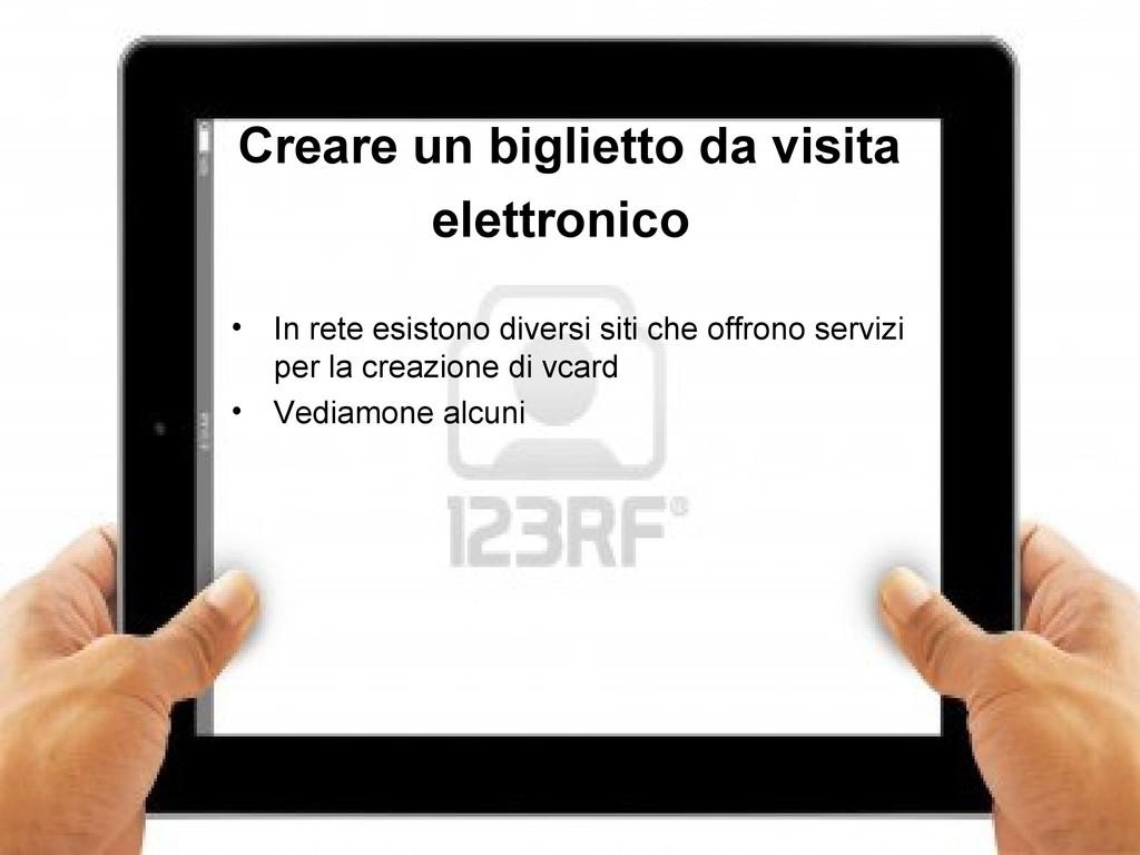 10 Creare un biglietto da visita elettronico • ...