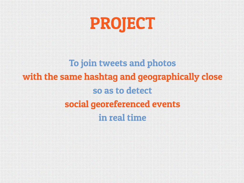 PROJECT To join tweets and photos with the same...