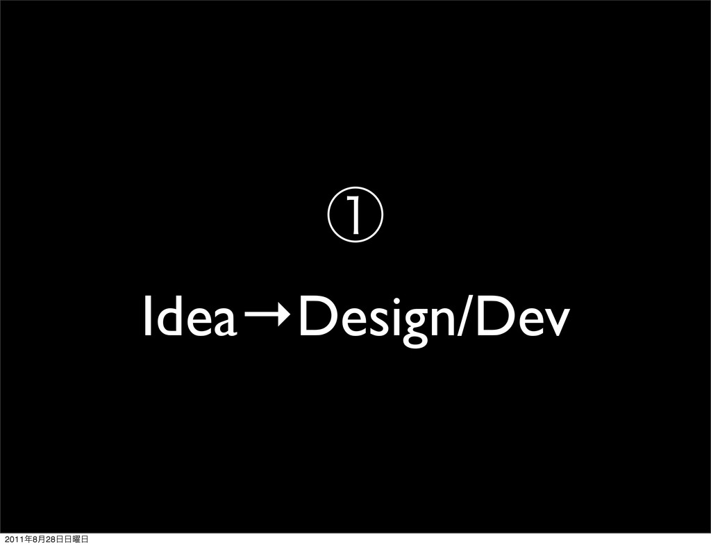 ᶃ Idea→Design/Dev 2011೥8݄28೔೔༵೔
