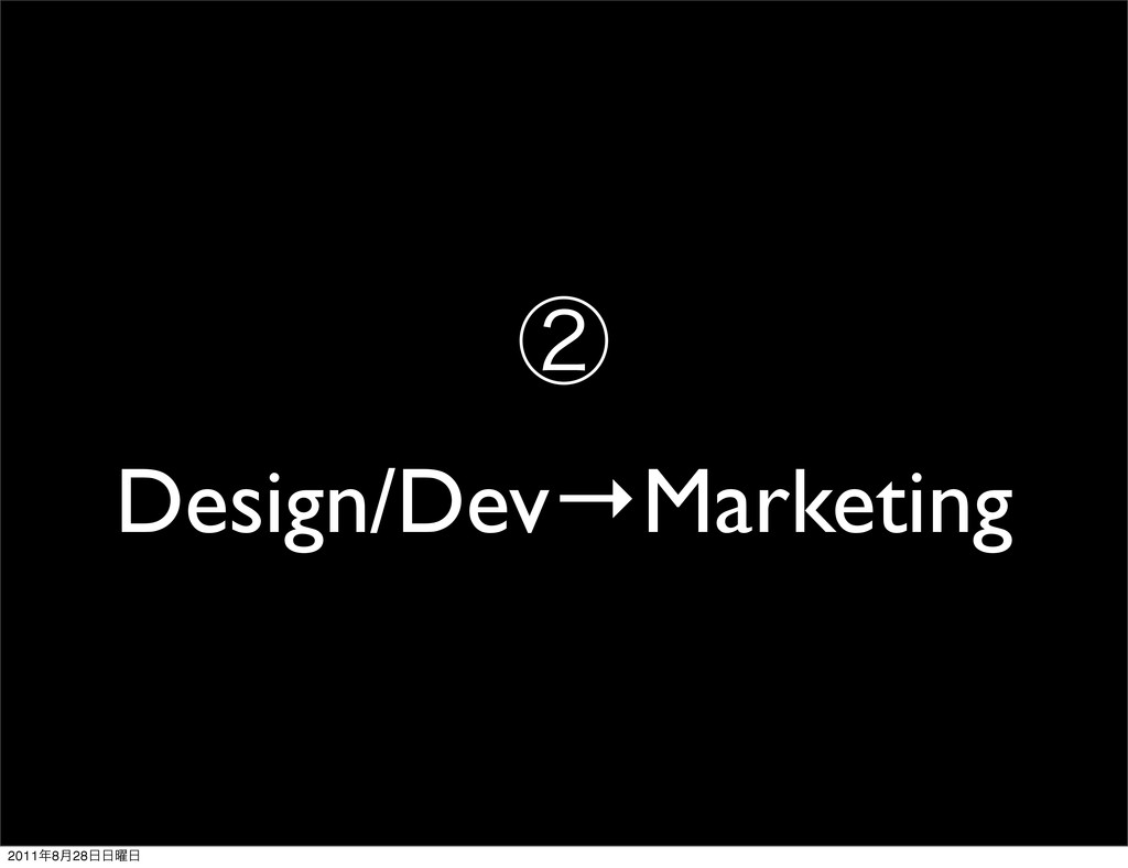 ᶄ Design/Dev→Marketing 2011೥8݄28೔೔༵೔
