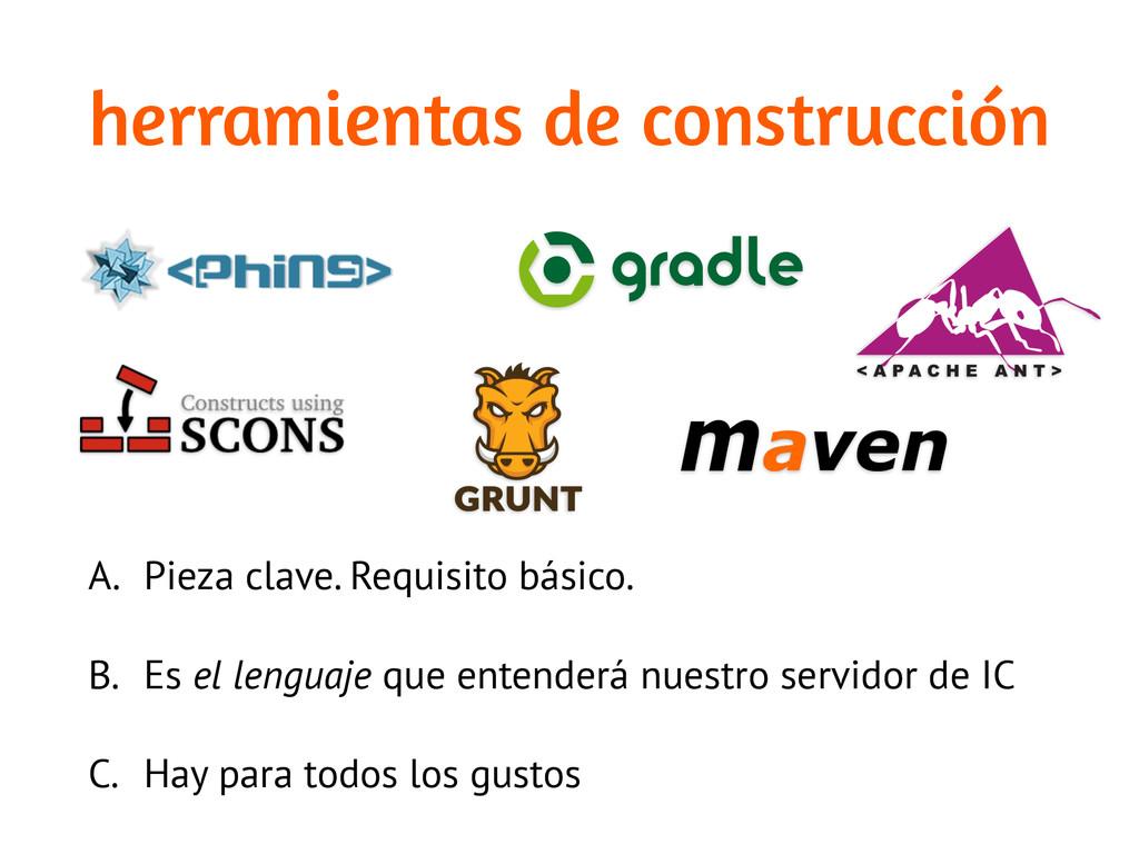 herramientas de construcción A. Pieza clave. Re...