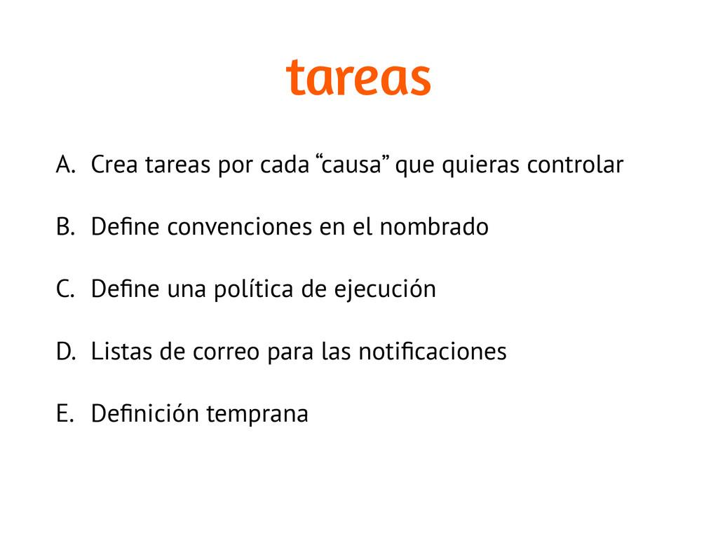 """tareas A. Crea tareas por cada """"causa"""" que quie..."""