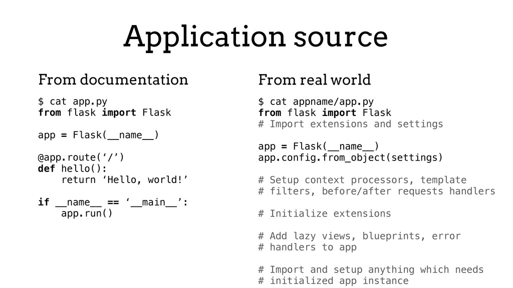 Application source $ cat app.py from flask impo...