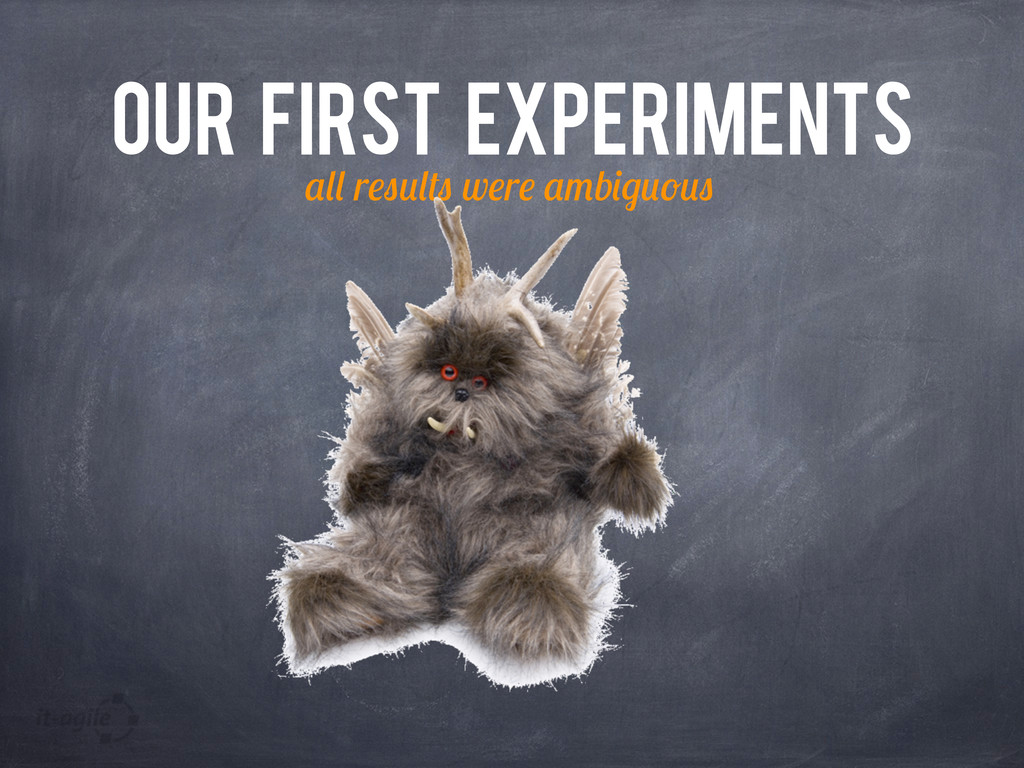 OUR FIRST EXPERIMENTS r w r b