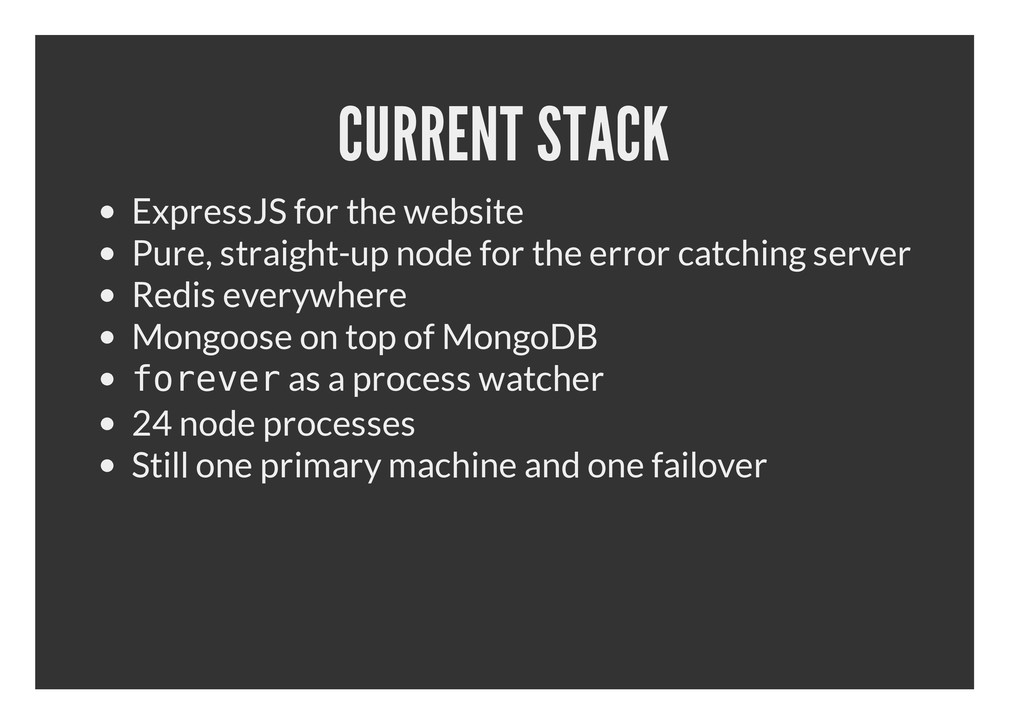 CURRENT STACK ExpressJS for the website Pure, s...