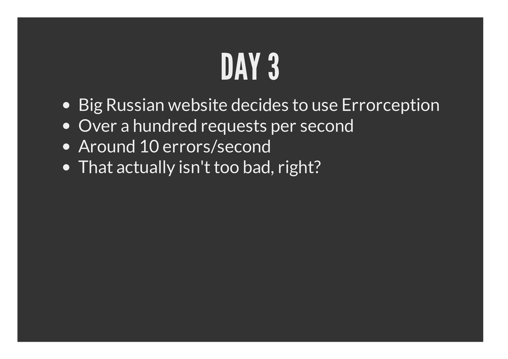DAY 3 Big Russian website decides to use Errorc...