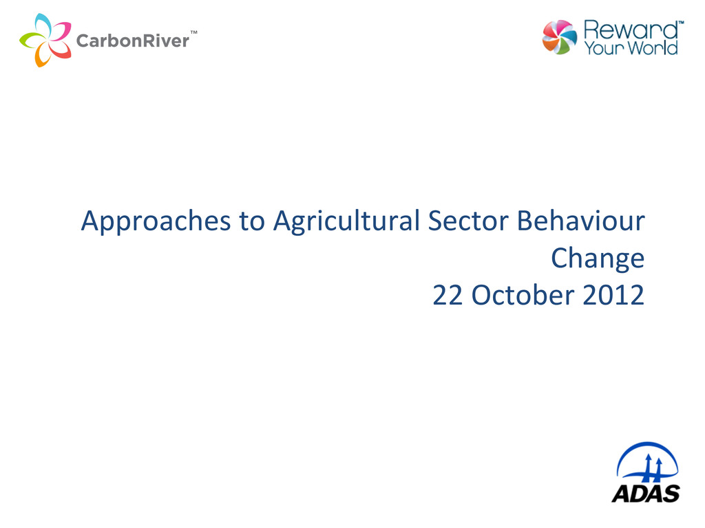 Approaches to Agricultural Sector B...