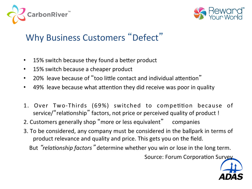 """Why Business Customers """"Defect""""  •..."""