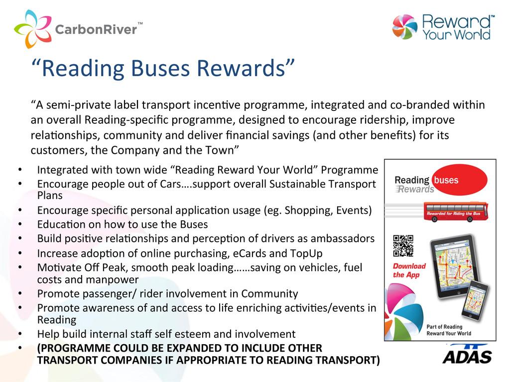 """Reading Buses Rewards""   • Integr..."