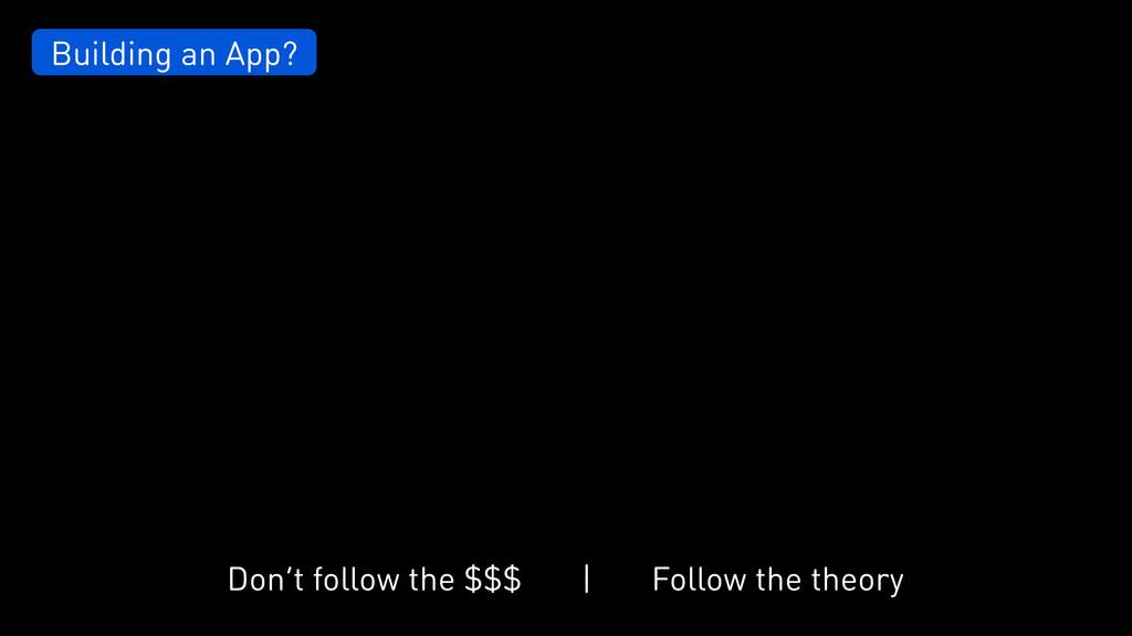 Building an App? Don't follow the $$$ Follow th...