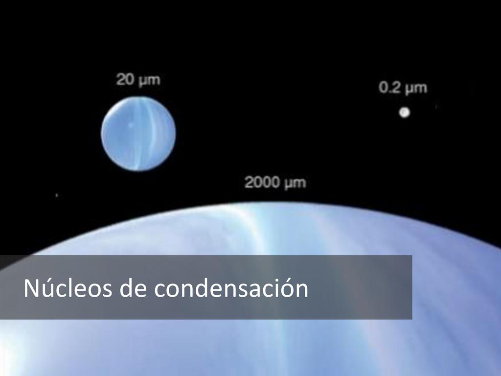 Núcleos de condensación