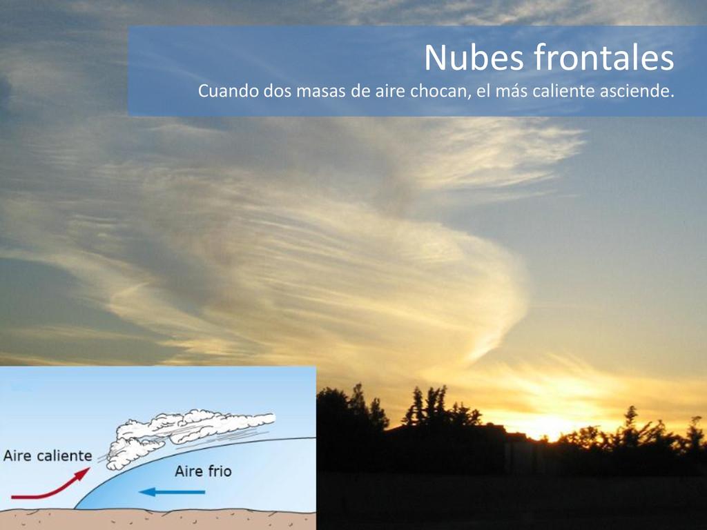 Nubes frontales Cuando dos masas de aire chocan...